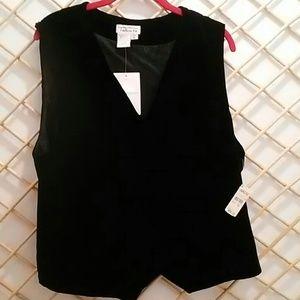 Black velvet vest, Talbots, size 16, so soft